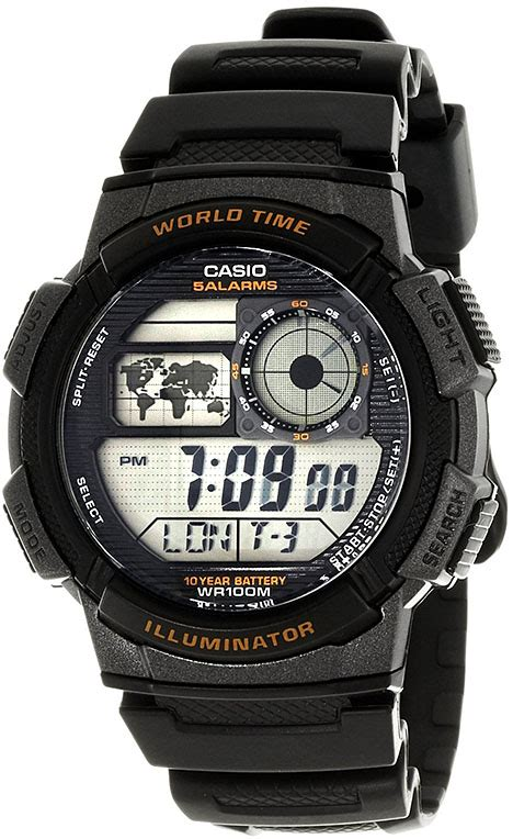 Jam Tangan Casio Ae 1000w 1av casio youth digital world time ae 1000w 1av s clock keeps ticking
