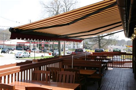 retractable awning retractable commercial awnings