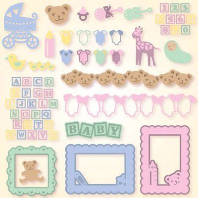 svg files for silhouette sizzix sure cuts a lot and make 5 99 baby elements svg collection svg files for