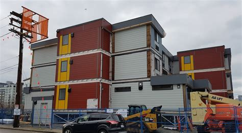Hive Modular Homes by Vancouver S First Temporary Modular Housing Complex