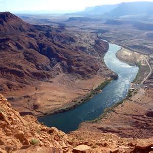 where does the colorado river start and end map quia flashcards landforms