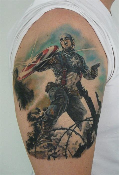 captain america tattoos captain america lasse sj 246 roos tattoos