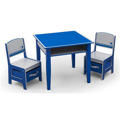 childrens desk and chair set delta children jack and jill kids 3 piece and chair