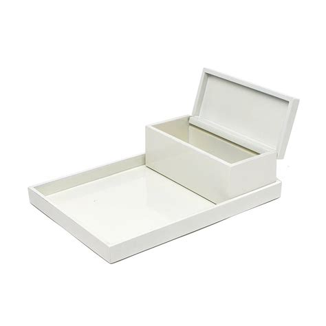 lacquer vanity tray and box set by nom living