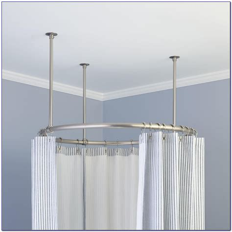 curtain pole hangers corner shower curtain rod bed bath and beyond curtain