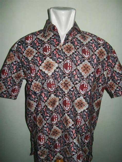 470 Kemeja Batik Kode Bj35 batik bola ac milan pria tan grosir dan eceran
