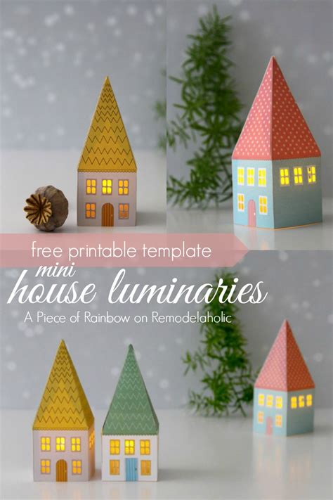printable paper house luminaries remodelaholic printable mini house luminaries