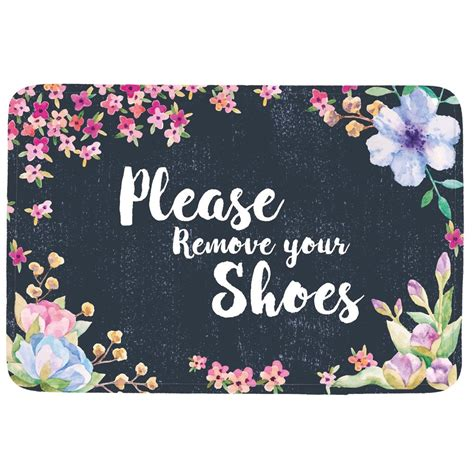 Shoes Doormat by Remove Your Shoes Doormat Entrance Mat Floor Mat