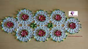 como hacer un caminito al crochet paso a paso camino de mesa primaveral crochet o