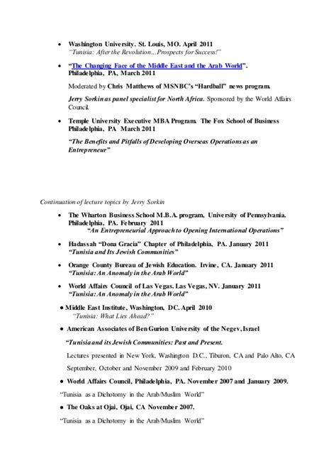 Wharton One Year Mba by Lecture Topics Presented By Jerry Sorkin