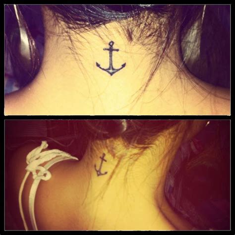 neck tattoo refused 25 best ideas about small anchor tattoos on pinterest