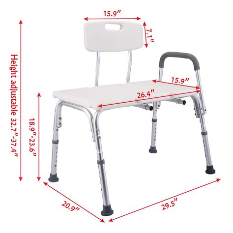 bench height chair 10 height adjustable medical shower chair bath tub bench