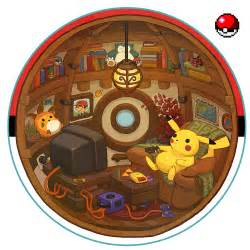cozy pokeball interior by scribbles