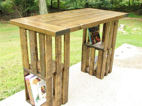 diy rustic computer desk 16 handy diy projects from old wooden crates style