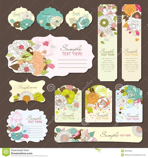 Gift Card Stickers - greeting card gift tag design stock photos image 25943553