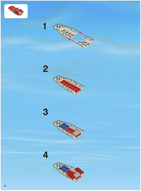 lego boat step by step lego police boat instructions 7287 city