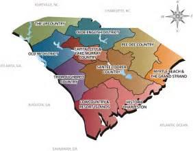 sc tourism regions map for tourism