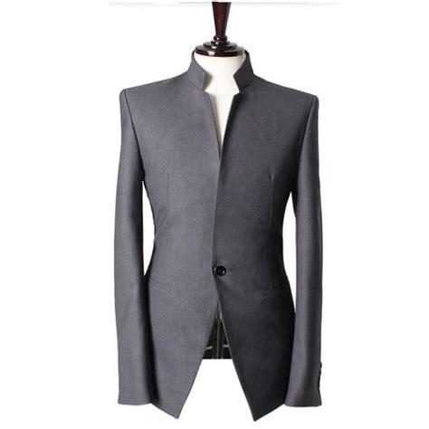 Handmade Mens Suits - mandarin collar gentlemen suits jacket handmade