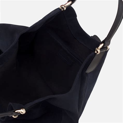 Zara Bag With Buckles zara suede bag with buckle in blue lyst