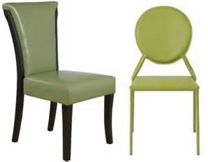 Green Leather Dining Chairs Green Leather Dining Chair Whereibuyit