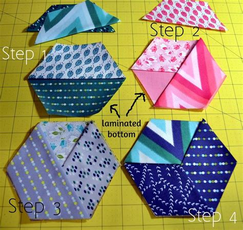 pattern for fabric wine coasters quick honeycomb wine coasters 171 moda bake shop sewing