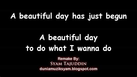 day lyrics instrumental remake a beautiful day kid song with