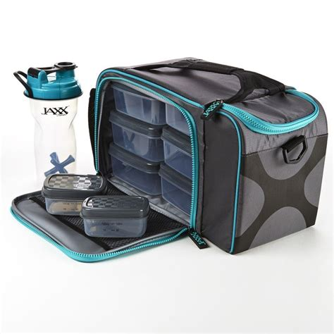 Lunch Box Kertas Sekat 4 Xl jaxx fitpak xl meal prep bag with portion containers teal portion containers