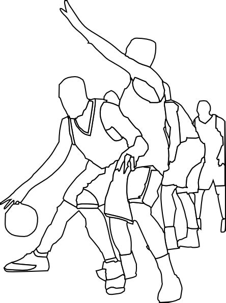 Sports Player Outline by Basketball Outline Clip At Clker Vector Clip Royalty Free Domain