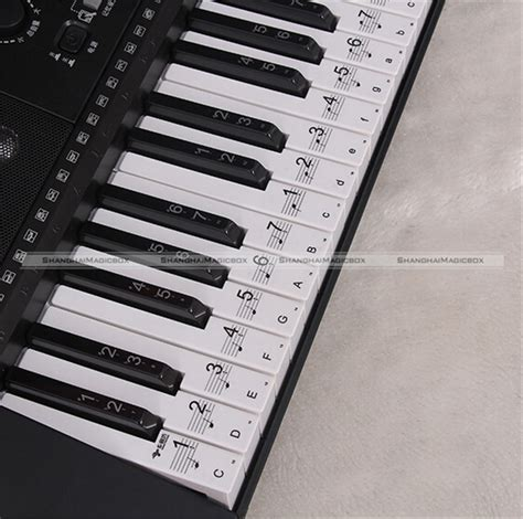 printable piano keyboard stickers music keyboard electronic organ note clear stickers set