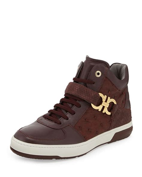 ferragamo sneakers mens salvatore ferragamo nayon s high top sneaker