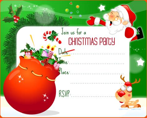 templates for christmas party invitations 7 christmas invitation template bookletemplate org