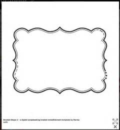9 best images of scrapbook frame printable stencil free