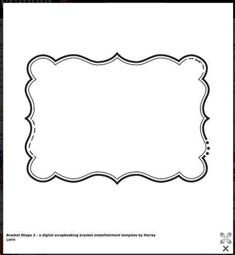 shaping template 9 best images of scrapbook frame printable stencil free