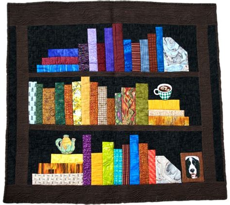 what works for at work four patterns working need to books fabric at work bookcase quilt pattern