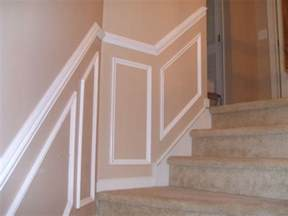 How To Install Chair Rail Molding With Wainscoting - chair rail up stairs a more decor