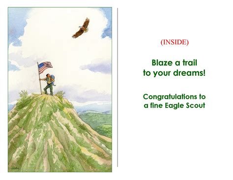 Eagle Scout Congratulations Card Template by Eagle Scout On Hilltop Card