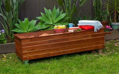 diy outdoor storage bench seat diy outdoor storage benches the garden glove