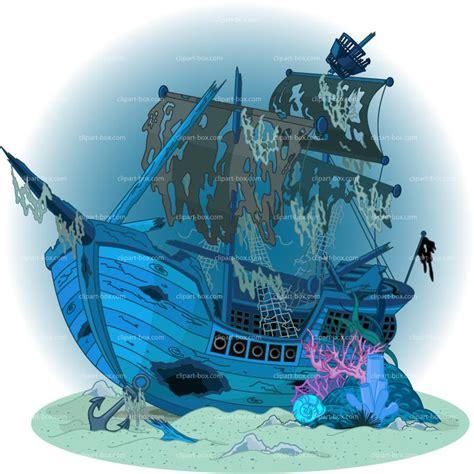 barco fantasma dibujo sunken clipart clipground