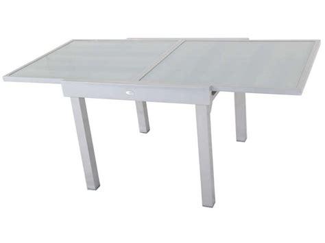 table de jardin avec rallonge 187 table de jardin 90 cm avec allonge tenerife conforama