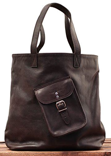 vintage leather shopping bag color indus  handbag