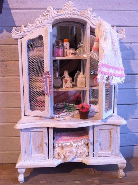 miniature dollhouse bathrooms dollhouse miniature furniture distressed bathroom by