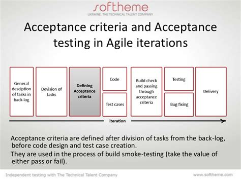 acceptance for value template acceptance criteria
