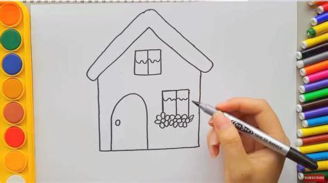 tutorial menggambar rumah menggambar rumah untuk anak dengan mudah menggambar unik