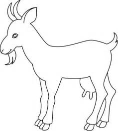 Outline Drawings Of Animals by Outline Drawing Of A Goat Animals