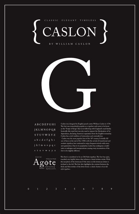 font poster caslon typography poster shannon edgar