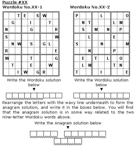 printable double sudoku double wordoku faqs words and wordokus