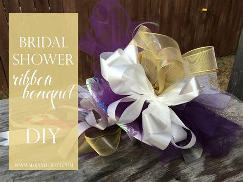 bridal shower ribbon bouquet diy simply elliott