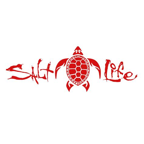 Red 12 Quot Salt Life Signature Turtle Decal