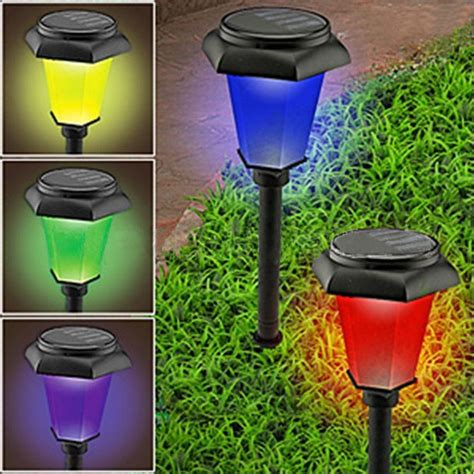 color changing solar yard lights new solar power changing bright efficient garden yard