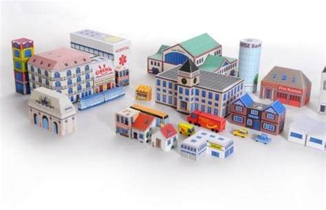 Papercraft City - new paper craft papercraft micro city diorama free
